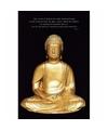 Poster gouden boeddha 61 x 91 cm