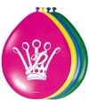 Prinsessia feest ballonnen 8 stuks