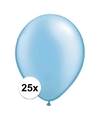 Qualatex ballonnen azure blauw 25 stuks