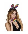 Regenboog bunny set voor volwassenen