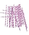 Rietjes lila paars gestreept 24 stuks