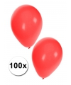 Rode ballonnen 100 stuks