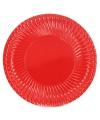 Rode bordjes 10 stuks