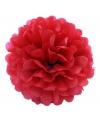 Rode decoratie pompom 25 cm