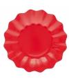 Rode diepe bordjes 21 cm