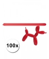 Rode modelleer ballonnen 100 stuks