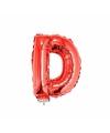 Rode opblaas letter d op stokje 41 cm