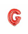 Rode opblaas letter g op stokje 41 cm
