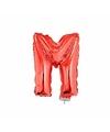 Rode opblaas letter m op stokje 41 cm
