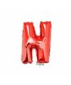 Rode opblaas letter n op stokje 41 cm