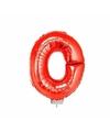 Rode opblaas letter o op stokje 41 cm