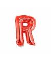 Rode opblaas letter r op stokje 41 cm