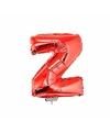Rode opblaas letter z op stokje 41 cm