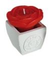 Rode roos kaarsje in potje