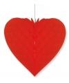Rood decoratie hart 40 cm