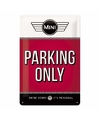Rood muurplaatje mini parking only