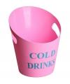 Roze kunststof ijs emmer 28 cm