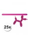 Roze modelleer ballonnen 25 stuks