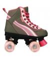 Roze retro dames rolschaatsen