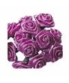 Roze roosjes van satijn 12 cm