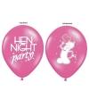Roze vrijgezellenfeest ballonnen