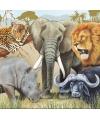 Safari dieren servetten 20 stuks