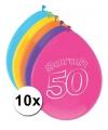 Sarah ballonnen 50 jaar 10 stuks