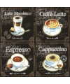 Servetten 4 soorten koffie print 3 laags 20 stuks