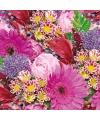 Servetten boeket bloemen 3 laags 20 stuks