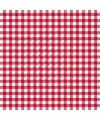 Servetten geruit rood wit 3 laags 20 stuks