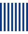 Servetten gestreept marineblauw wit 3 laags 20 stuks