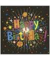 Servetten happy birthday print 20 stuks