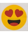 Servetten hartjesogen emoji 20 stuks