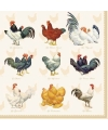 Servetten kip haan pasen 3 laags 20 stuks