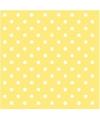 Servetten met stippen geel 3 laags 20 stuks