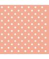 Servetten met stippen peach roze 3 laags 20 stuks