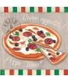 Servetten pizza print 3 laags 20 stuks