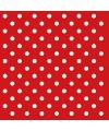 Servetten rood met witte stippen 20 stuks