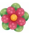 Setje bloem ballonnen groen fuchsia