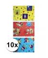 Sinterklaas folie inpakpapier 10 rollen