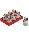 Sneeuwpop kaarsjes 6 stuks