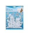 Sneeuwpop raamstickers