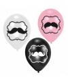 Snor ballonnen 6 stuks