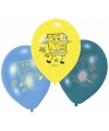 Spongebob thema ballonnen 6 stuks