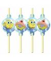 Spongebob thema rietjes 8 stuks