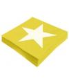 Ster servetten geel 20 stuks