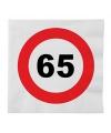Stopbord servetten 65 jaar