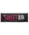 Sweet 16 banner 74 x 220 cm