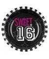 Sweet 16 borden 6 stuks