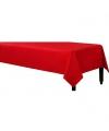 Tafelkleed rood 140 x 240 cm